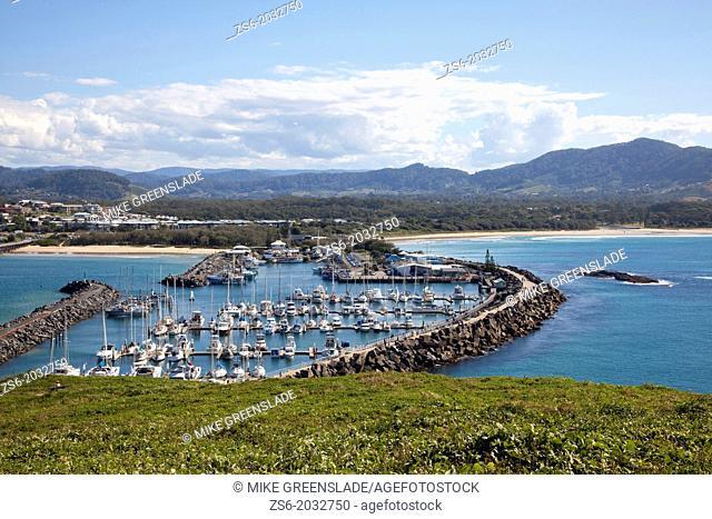 Coffs Harbour Marina from Muttonbird Island, NSW, Australia