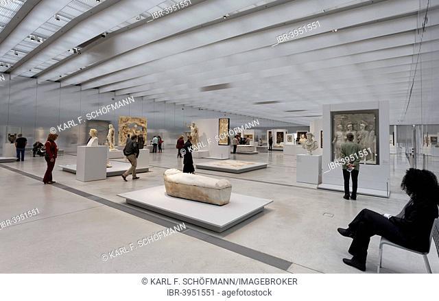 Exhibition Hall Galerie du Temps, Louvre-Lens, museum by the architecture firm SANAA, Lens, Nord-Pas-de-Calais, France