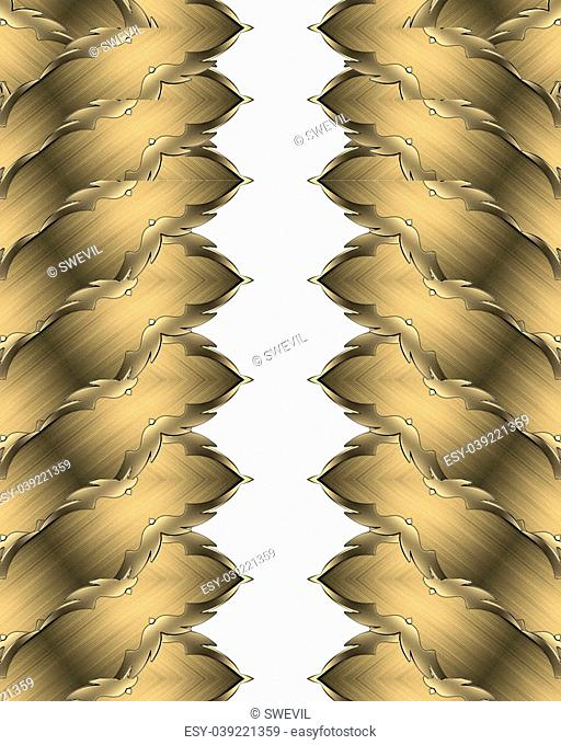 Abstract pattern golden edge. Design template