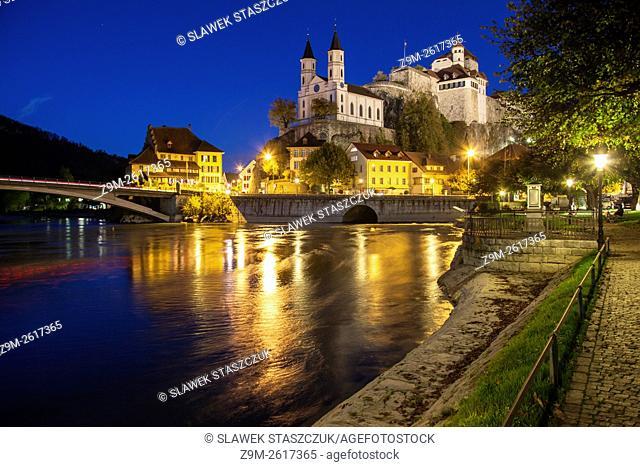 Evening at Aarburg castle, canton Aargau, Switzerland