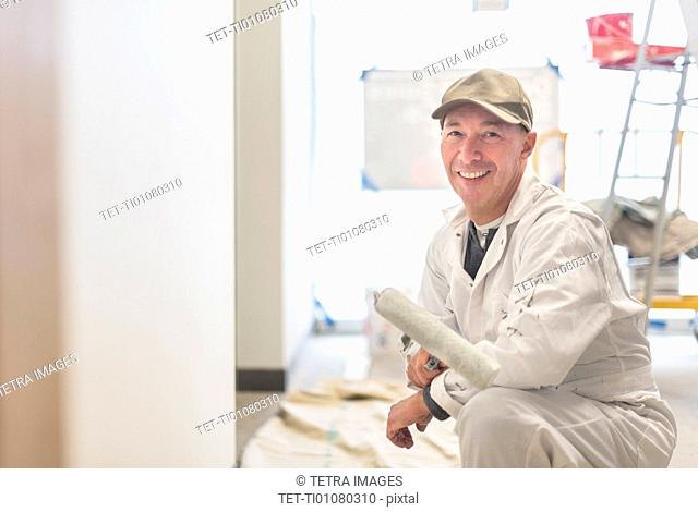 Portrait of smiling manual worker