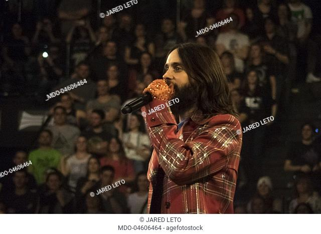 American actor and singer Jared Leto performs with his band Thirty Seconds to Mars during their The Monolith World Tour. Bologna, March 17th 2018