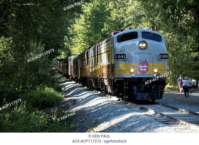 Canadian Pacific (CP Rail) Canada 150 train in Port Moody, BC, Canada