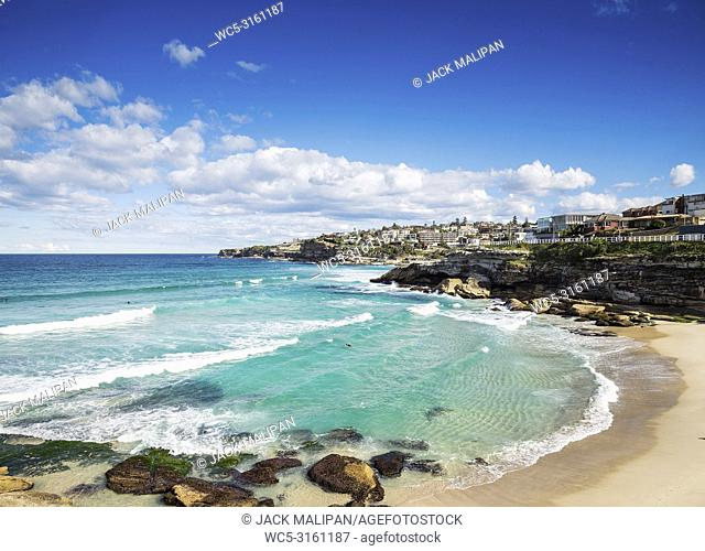 tamarama beach view near bondi in sydney australia