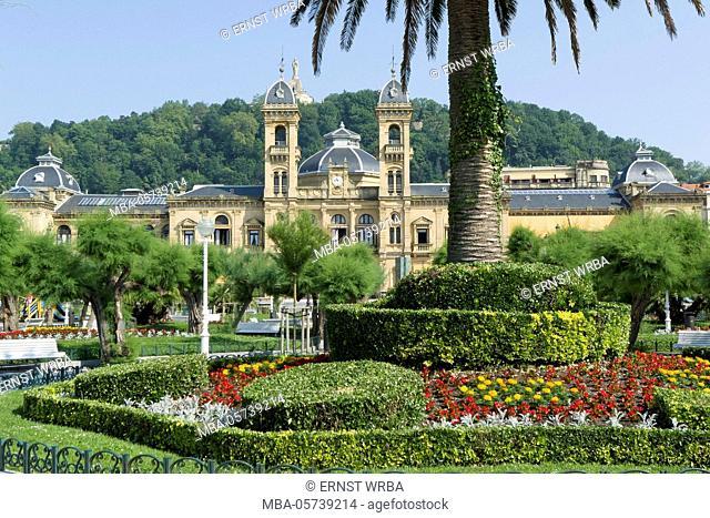 City hall, Donostia-San Sebastián, Gipuzkoa, the Basque Provinces, Spain