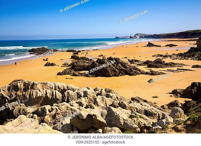 Canallave beach, Liencres Natural Park. Cantabrian Sea. Santander, Cantabria Spain. Europe