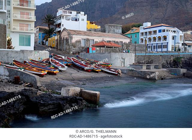 Fishing Boats, Port of Ponta do Sol, Boca de Pistola, Ponta do Sol, Cape Verde, Africa
