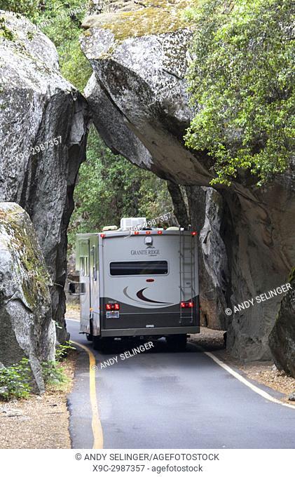 Entering Yosemite National Park, California, USA