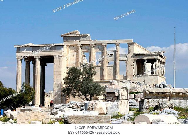 the temple of erechtheum