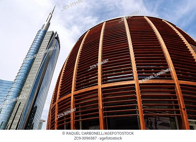 Unicredit Pavilion in Garibaldi area, Milan, Lombardy, Italy