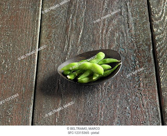 Edamame in a small bowl