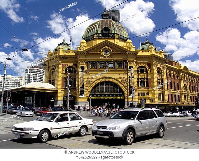 Flinders Street Railway Station Melbourne Victoria Australia
