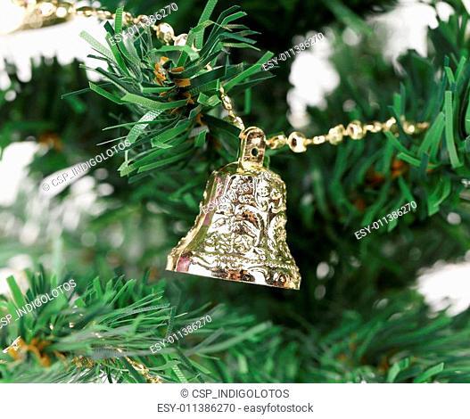 Christmas tree with jingle bells