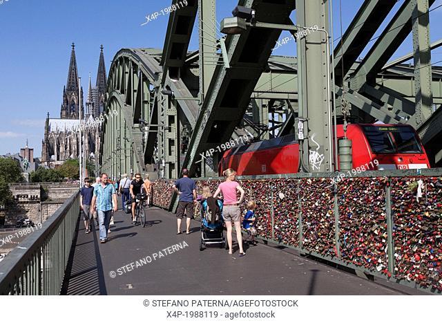 Love Locks, Padlocks, Hohenzollern Bridge, Cologne, Germany
