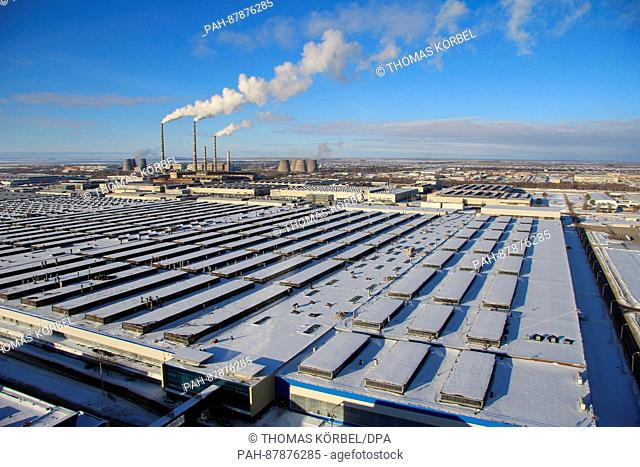A view over the 600 hectare Lada factory owned by AvtoVaz in the industrial city of Tolyatti roughly 1, 000 kilometers east of Moscow in Russia, 23 January 2017