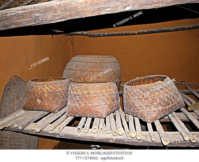 Bamboo Baskets, Manav Sangrahalaya, Museum, Madhya Pradesh, India
