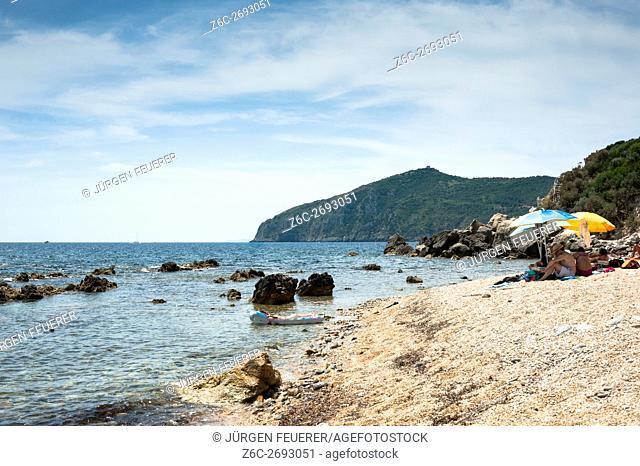 Small beach near Porto Santo Stéfano, Tuscany, province Maremma, Italy