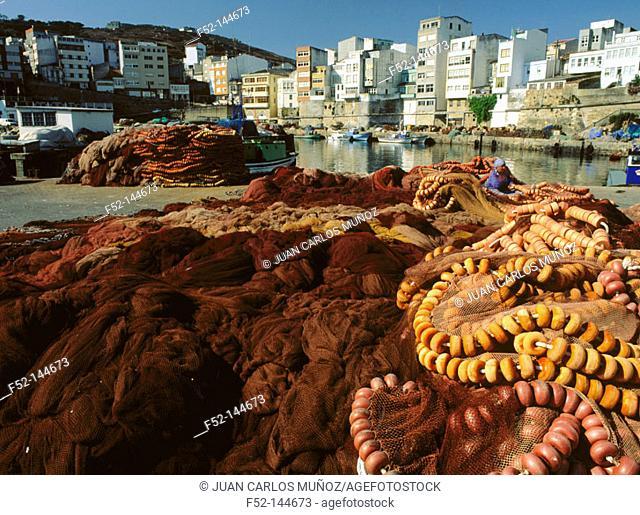 Malpica in 'Costa de la Muerte'. A Coruña. Galicia, Spain