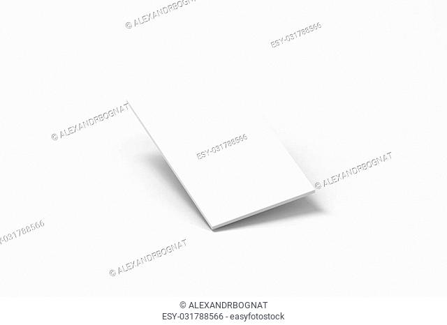 Blank white rectangle for phone display app web design mockup, clipping path, 3d rendering. Site interface mock up. Website ui template for browser screen