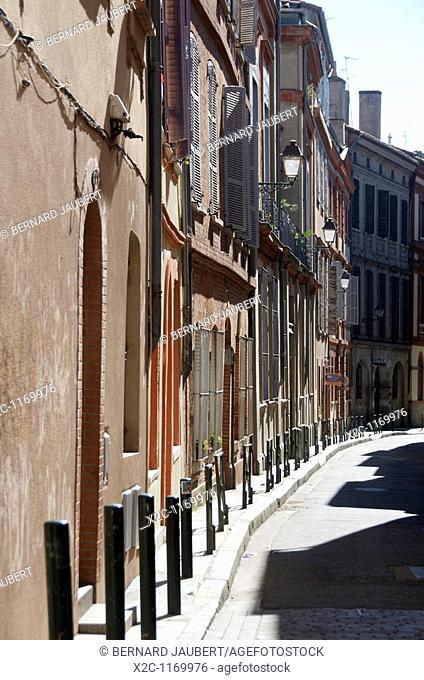 Street in Toulouse. Haute Garonne. France