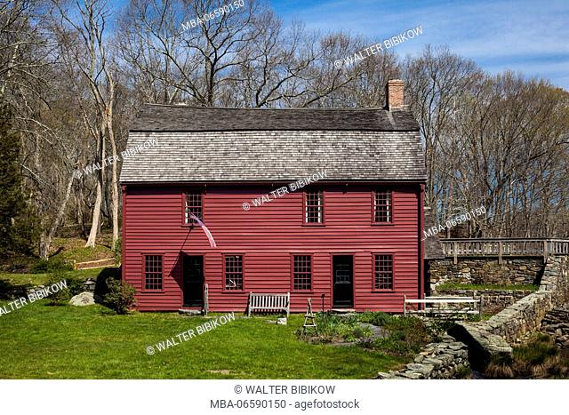 USA, Rhode Island, Saunderstown, Gilbert Stuart Birthplace, home of early American painter