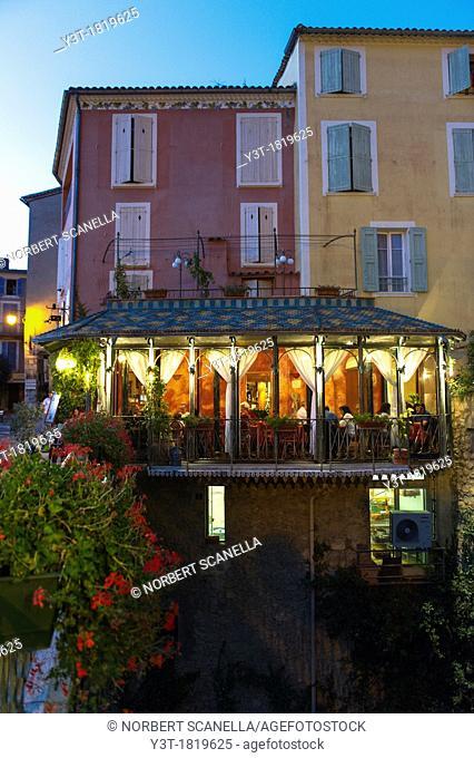 Europe, France, Alpes-de-Haute-Provence, Regional Natural Park of Verdon. Moustiers-Sainte-Marie, labeled The Most Beautiful Villages of France