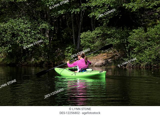 Kayaking on Pemaquid River; South Bristol, Maine, United States of America