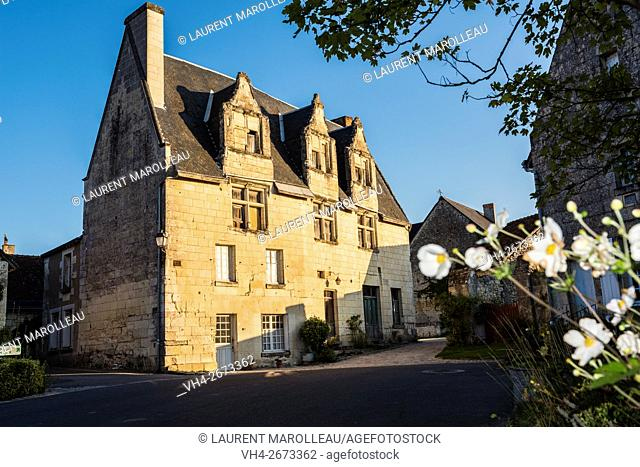 Notable House known as Maison du Grand Carroi at Crissay-sur-Manse, Labeled The Most Beautiful Villages of France. Indre-et-Loire, Centre region, Loire valley