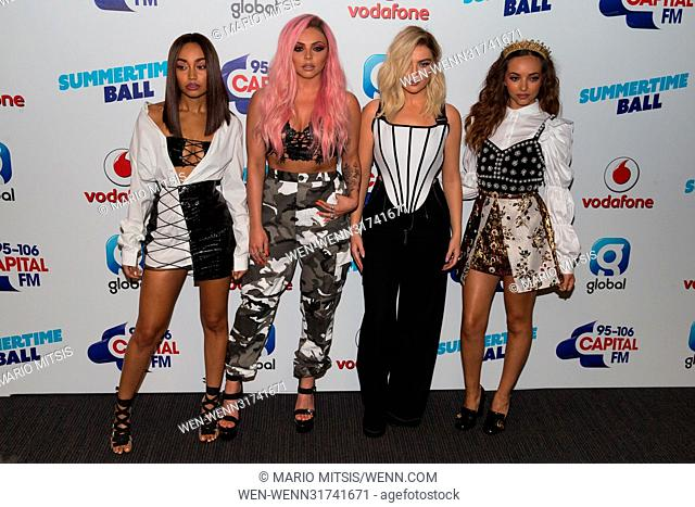 The Capital's Summertime Ball held at the Wembley Stadium - Arrivals Featuring: Little Mix, Jade Thirlwall, Perrie Edwards, Leigh-Anne Pinnock