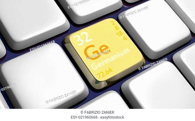 Keyboard (detail) with Germanium element