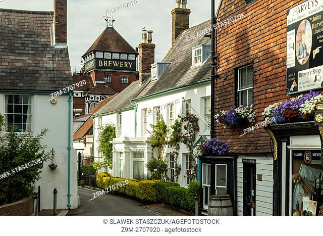 Summer afternoon in Lewes, East Sussex, England