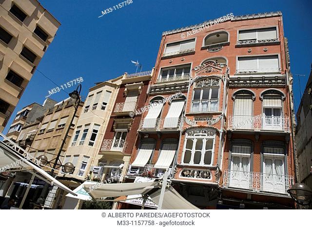Casa modernista en la calle Puertas de Murcia  CARTAGENA CIUDAD region Murcia ESPAÑA  Modernist house in Puertas de Murcia Street  CARTAGENA CITY Murcia region...
