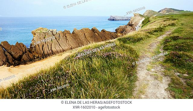 Liencres coast  Cantabria  Spain