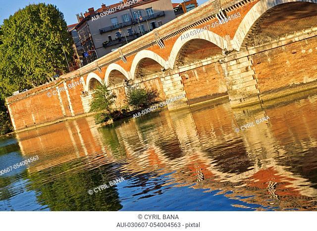 France, Toulouse, Tounis bridge,[Garonne River], Pont de Tounis