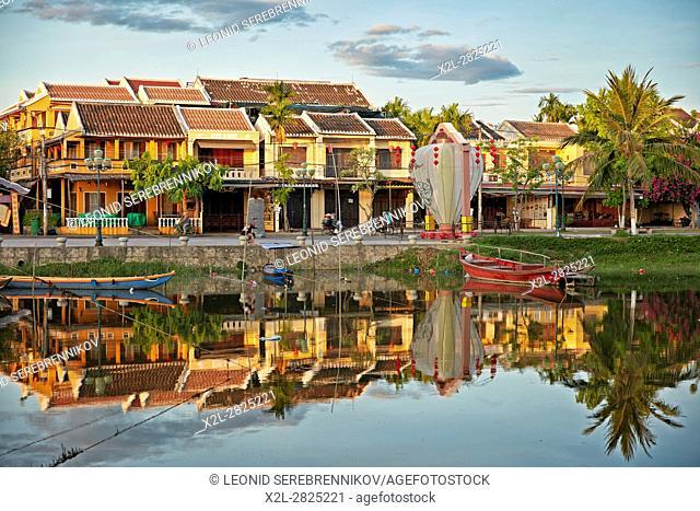 Traditional houses along the Thu Bon River. Hoi An, Quang Nam Province, Vietnam