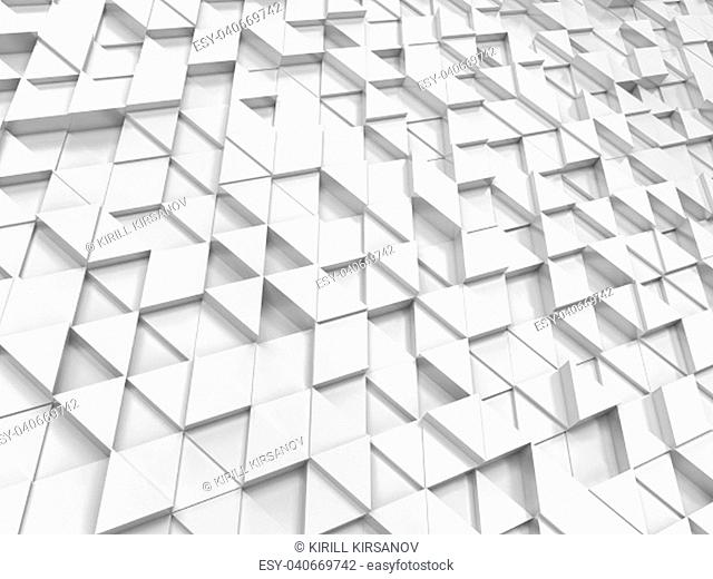 Abstract triangle pattern. 3d background