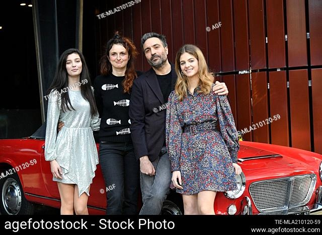 Alice Rohrwacher, Saverio Costanzo, Gaia Girace, Margherita Mazzucco during 'My Brilliant Friend Season 2' tv series premiere, Rome, Italy 21/01/2020