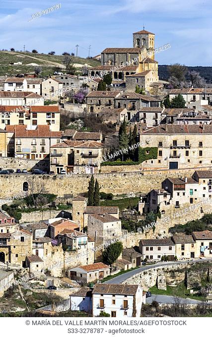 Sepulveda on a winter sunny day. Segovia. Spain. Europe