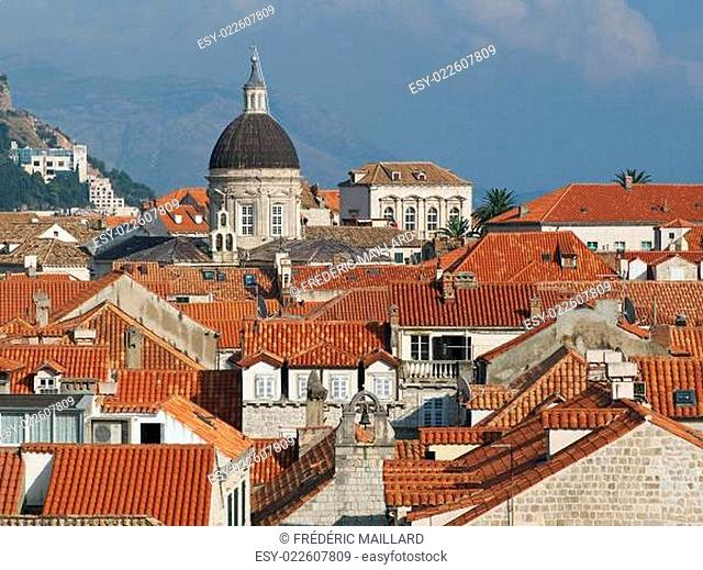 Dubrovnik historic town cathedral, Croatia