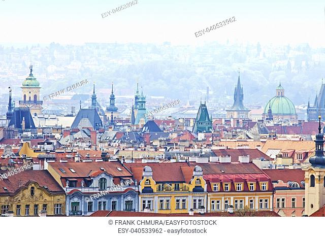 Czech Republic, Prague - Spires of The Old Town