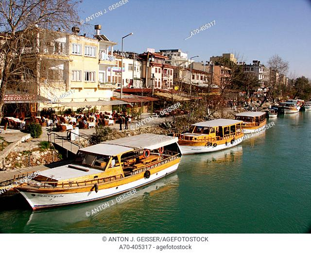 Wooden boats. Manavgat. Turkey