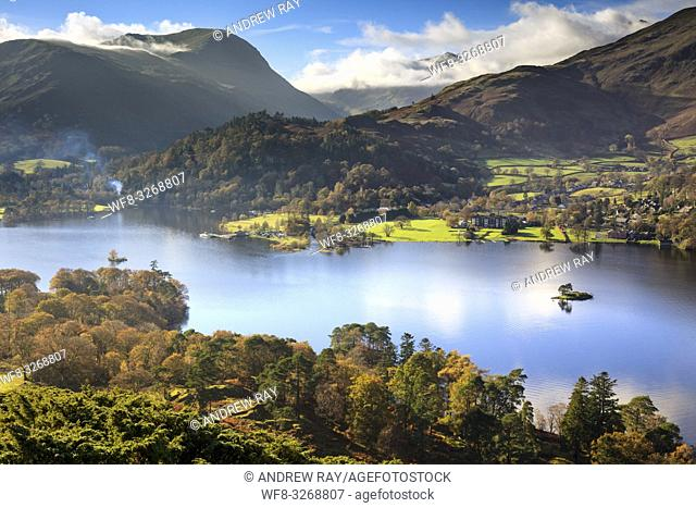 Ullswater in the Lake District National Park, captured from near the summit of Silver Crag on a still morning in early November