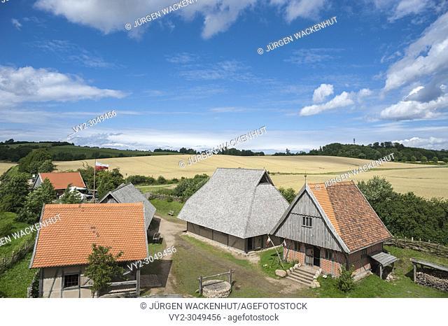 Bailey of the motte, Luetjenburg, Baltic Sea, Schleswig-Holstein, Germany, Europe