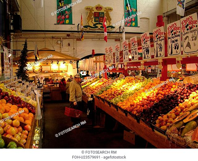 Canada, New Brunswick, Saint John, City Market, interior