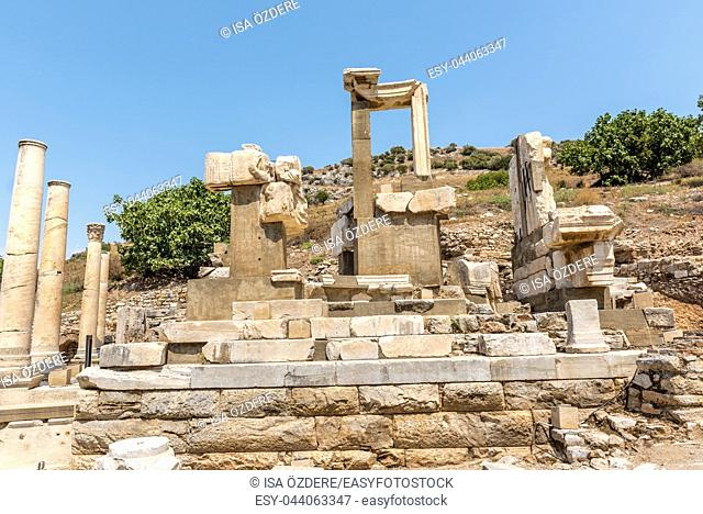 Memmius Monument at Ephesus historical ancient city, in Selcuk, Izmir, Turkey