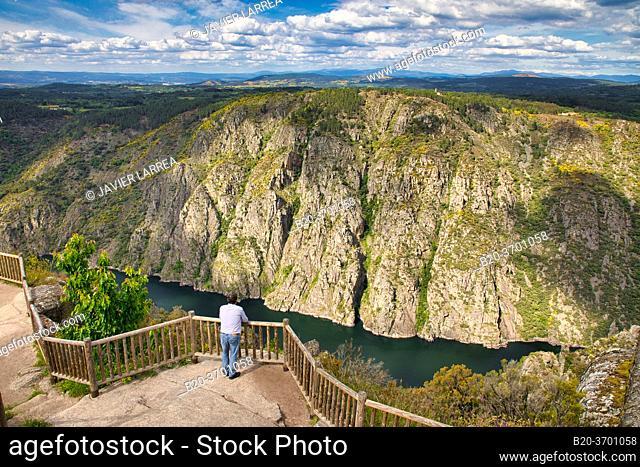 Balcóns de Madrid, Sil river canyon, Ribeira Sacra, Parada de Sil, Ourense, Galicia, Spain