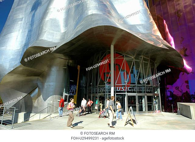 Seattle, WA, Washington, Seattle Center, Experiment Music Project, Science Fiction Museum and Hall of Fame