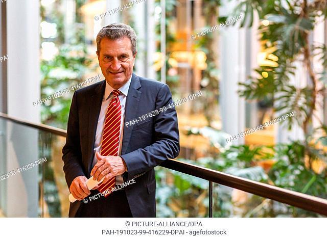 FILED - 23 October 2019, France (France), Straßburg: Günther Oettinger (CDU / EPP Group), EU Commissioner for Budget and Personnel