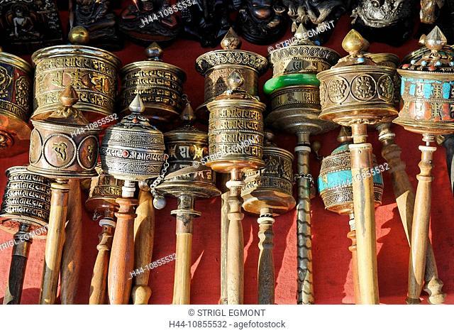 10855532, Prayer wheel, tourist market, Bodhnath