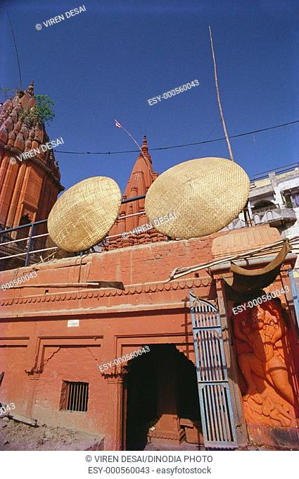 Temple on ghat , Varanasi , Uttar Pradesh , India
